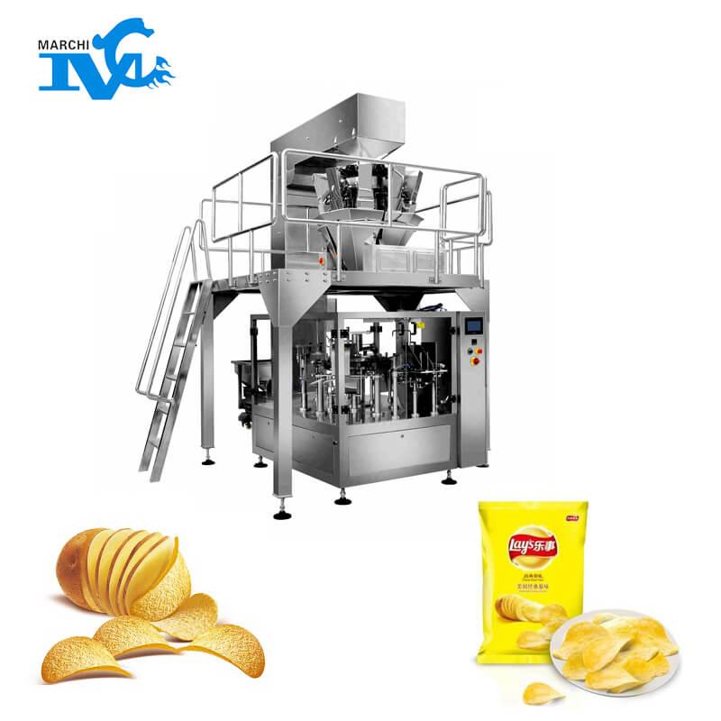 膨化食品全自动给袋式包装机械