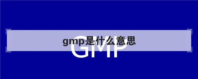 兽药GMP认证